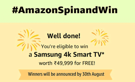 AMAZON SPIN AND WIN RIGHT ANSWER