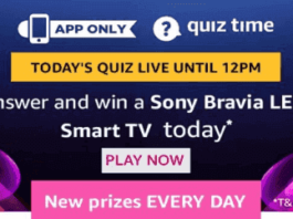 Amazon today quiz 2nd august answers