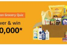 amazon grocery quiz 27 august