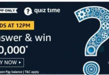 amazon quiz answer 8 august 20,000