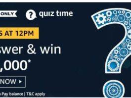 amazon quiz answer 8 august 20,000