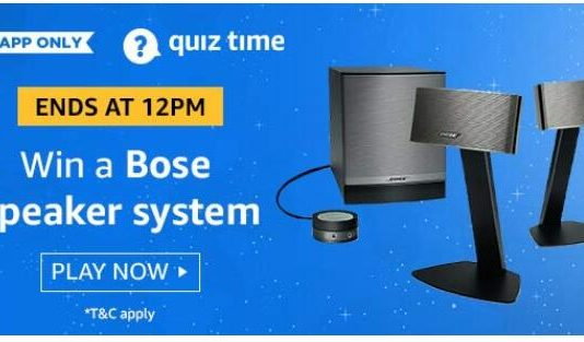 amazon quiz answer today 24 august Bose Speaker System