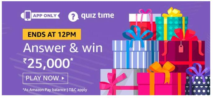 amazon today quiz 23 september answwer