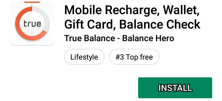 True Balance Free Recharge | Earn free Recharg Free Recharge