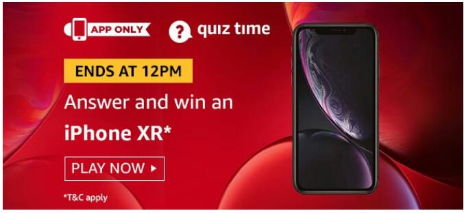 AMAZON TODAY QUIZ 1 SEPTEMBER an iPhone XR