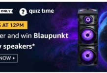 AMAZON TODAY QUIZ ANSWER 3 September