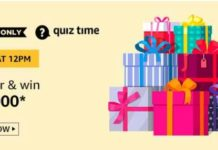 amazon quiz answers today 10000