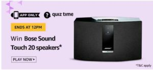 amazon quiz today answers