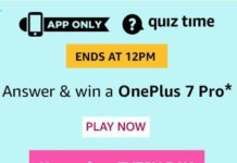 amazon quiz today answers OnePlus 7 Pro