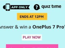 amazon quiz today answers OnePlus 7 Pro