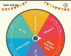 amazon spin & win today