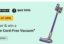 amazon today quiz answer free vacuum