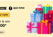 amazon today quiz answers 15000