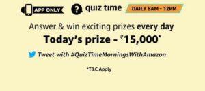amazon today quiz answers