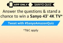 amazon today quiz sanyo 4k tv