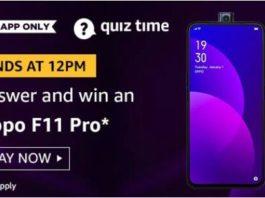 amazon today quiz answers oppo f11 pro