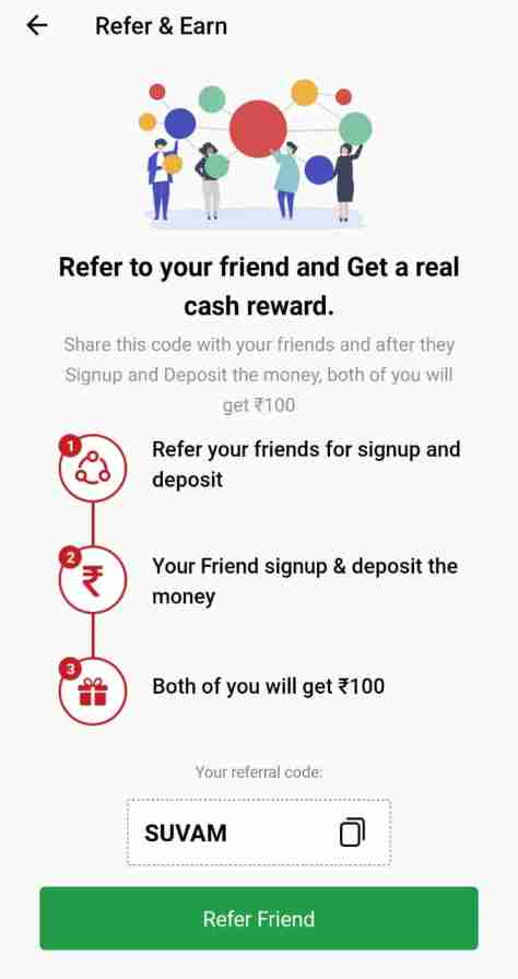 vision11 refer and earn
